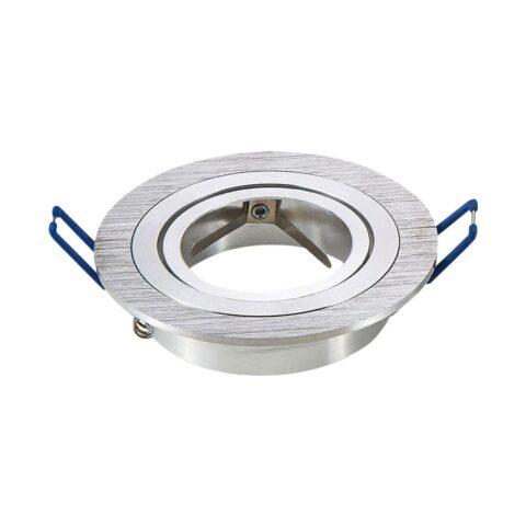 Bague d'encastrement ronde aluminium brossé