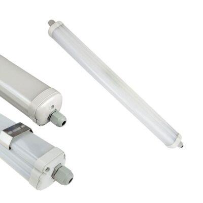 Lot de 12 Plafonnier LED 48W extérieur IP65 150CM 6400K - 6286