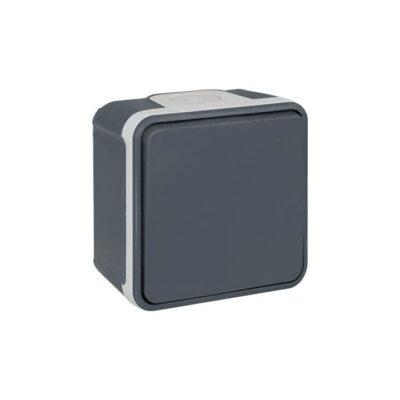 Interrupteur Va-et-vient - 10AX - 1 poste - 250V - Gris - 60800