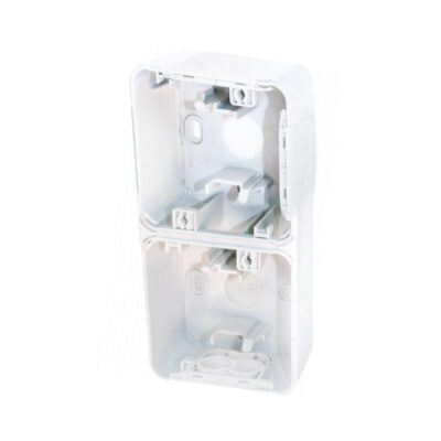 Boite 2 poste verticale - blanc - saillie - 60867