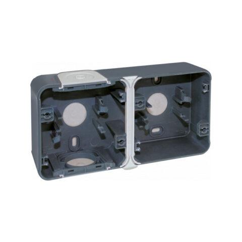 Boîte 2 poste - Gris - horiz - Oxxo - IP55 - 60861