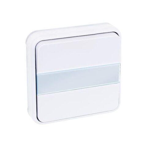 Bouton poussoir avec porte étiquette lumineux 10A - Blanc - 60893