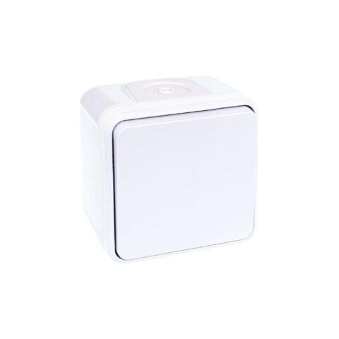 Bouton poussoir 1 poste - 10AX - 250V - Oxxo - Blanc - 60813