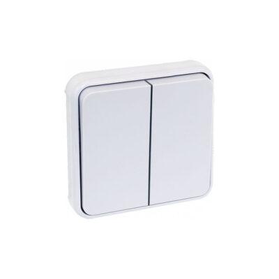 Double Boutton Poussoir composable Blanc IP55 - 60835