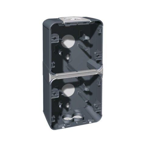 Boîte 2 poste - Gris - vertic - Oxxo - IP55 - 60862