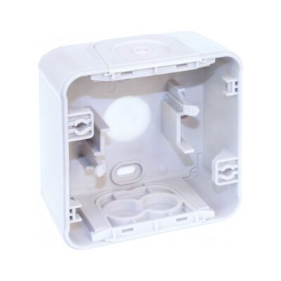 Boite 1 poste blanc saillie - 60865