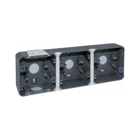 Boîte 3 poste - Gris - horizontale - Oxxo - IP55 - 60863