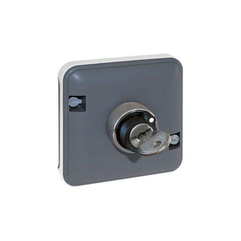 Mécanisme interrupteur à clé 3 positions Oxxo - 1 poste - Gris