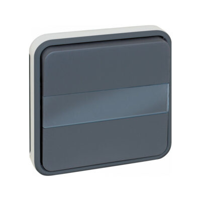 Boutton poussoir porte-etiquette compos GRIS IP55 - 60826