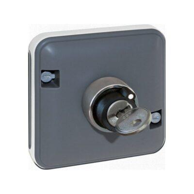 Mécanisme interrupteur à clé 2 positions Oxxo - 1 poste - Gris - 60828