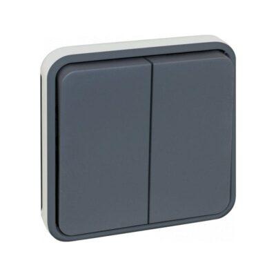Double Boutton Poussoir composable GRIS IP55 - 60825