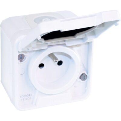 Prise 2P+T - 16A -1 poste - 250V - Oxxo - Blanc - 60850