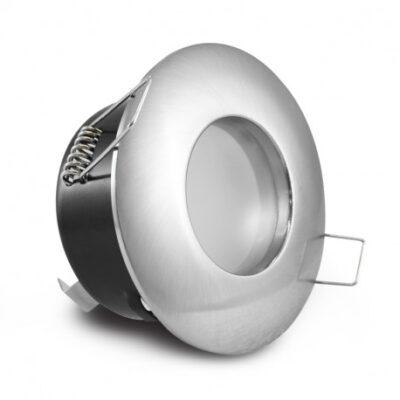Support spot rond fixe BBC étanche ∅ 82 mm - Finition chrome - 7720
